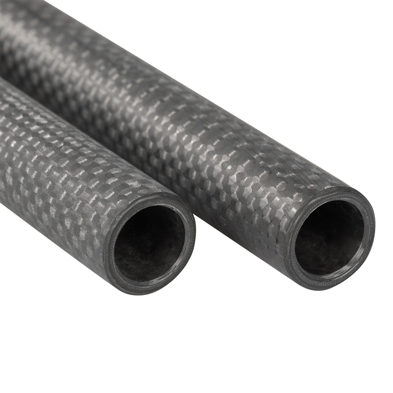 """Carbon Fiber Rod >> Pair of 15mm Carbon Fiber Rods - 16"""" - Ikan"""