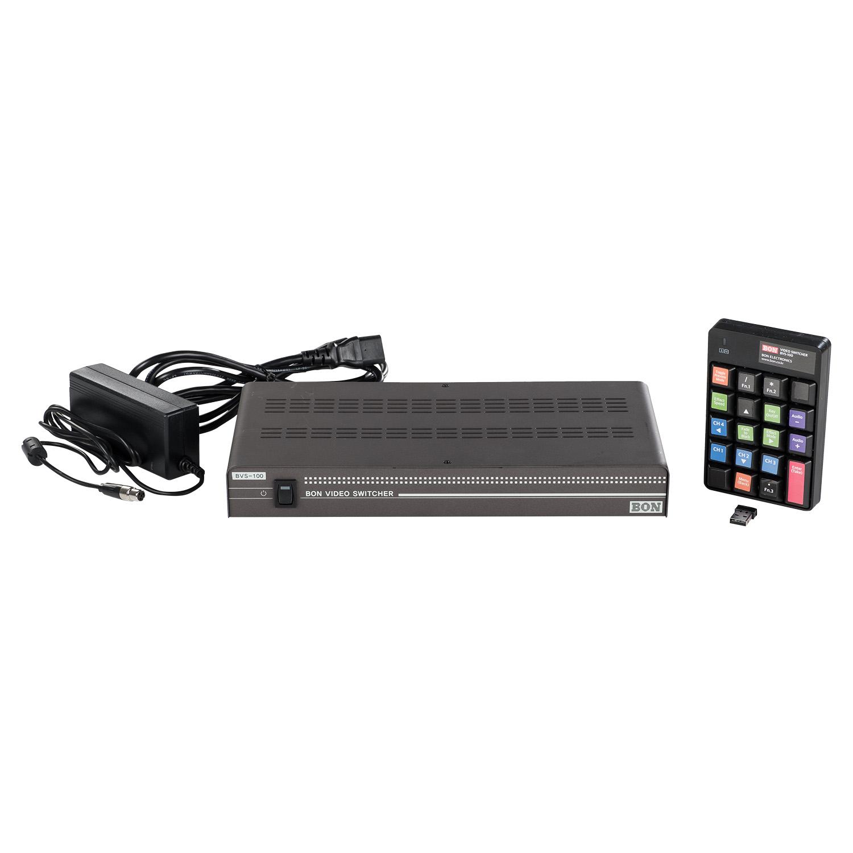 Portable 4 Input SD/HD-SDI & HDMI Live Digital Video Switcher w/ Audio and  Chroma key (BON)