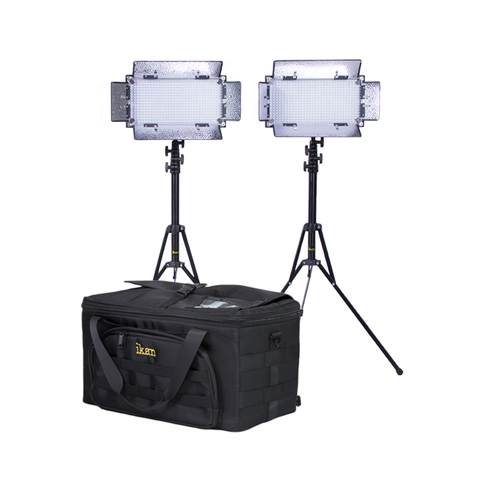 Kit With 2 X Id508 V2 Led Studio Light Ikan