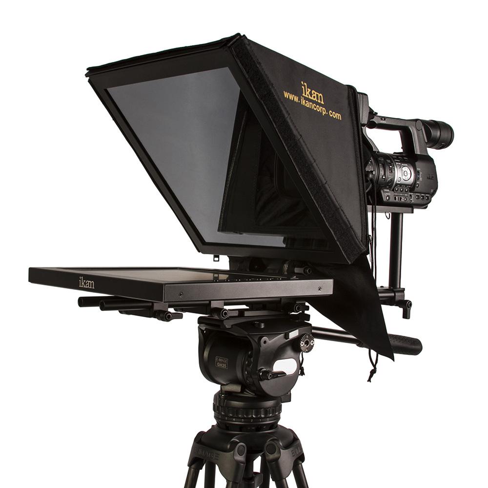 15 inch Rod Based Location Studio Teleprompter Ikan PT3500