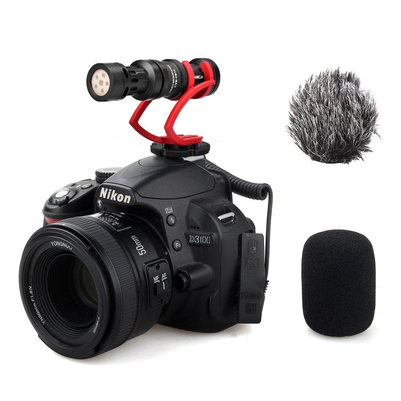 Mini On-Camera Directional Shotgun Mic (Red) (CoMica) on