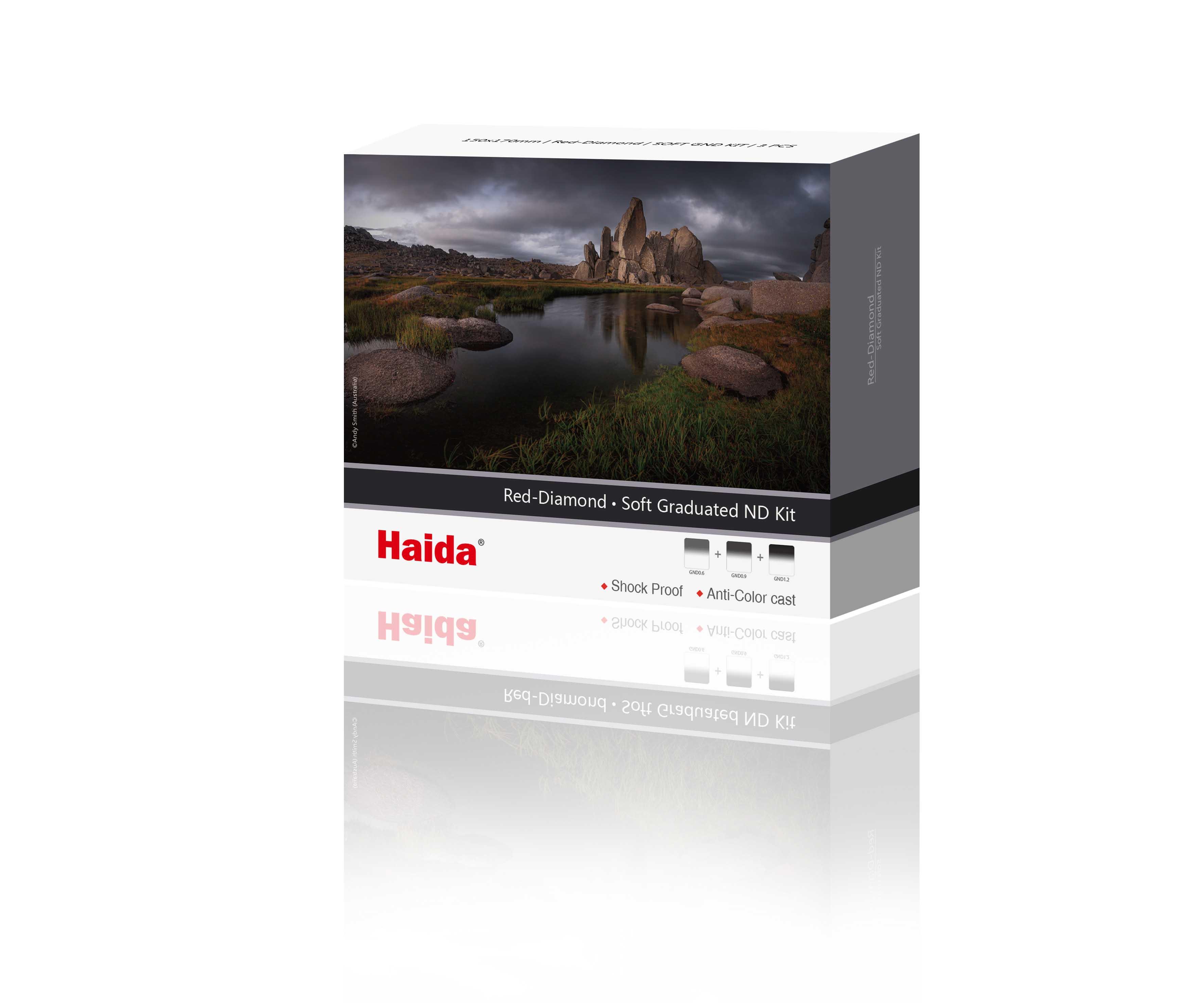 ND Optical Glass Filter 150 Haida NanoPro 150mm MC Graduated Neutral Density 0.9 Soft Edge 3-stop